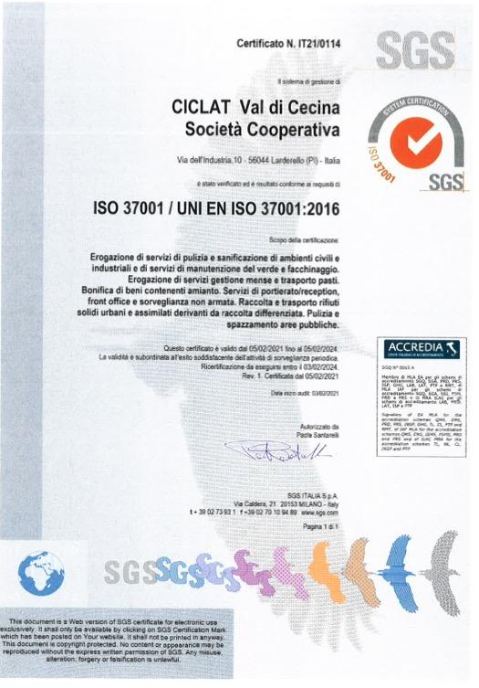 certificazione ISO-37001
